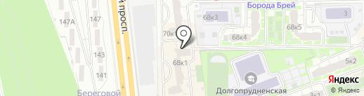 Магазин домашнего текстиля на карте Долгопрудного