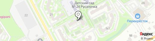 Компас на карте Подольска