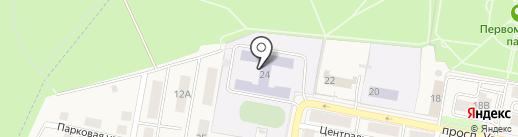 Средняя общеобразовательная школа №16 на карте Первомайского