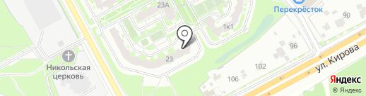 Сима на карте Подольска