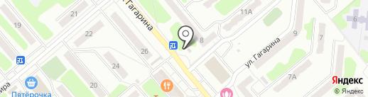 Фонарики на карте Щёкино