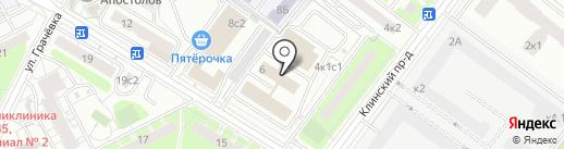 Диоли-М на карте Москвы
