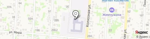 Средняя общеобразовательная школа №15 на карте Анапы