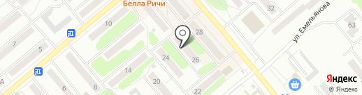 Паллада на карте Щёкино