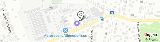 Климовск-авто на карте Подольска