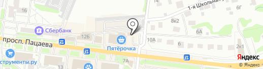 Славянка на карте Долгопрудного