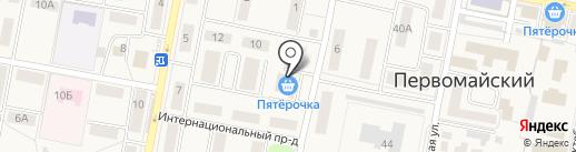 Пятёрочка на карте Первомайского