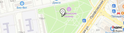 Урожайная грядка на карте Москвы