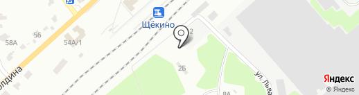 Вторчермет НЛМК Запад на карте Щёкино