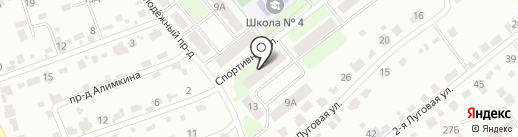 Скиф на карте Щёкино