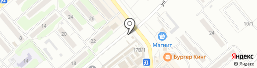 Магазин овощей на ул. Лукашина на карте Щёкино