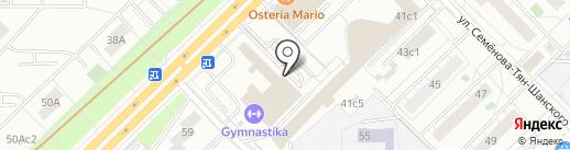 Амадей на карте Москвы