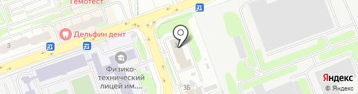Пожарная часть №73 на карте Долгопрудного