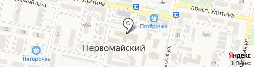 Банкомат, Среднерусский банк Сбербанка России на карте Первомайского