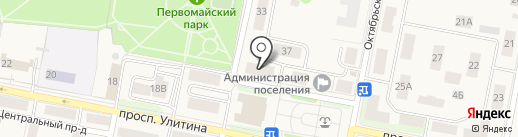 Проспект на карте Первомайского