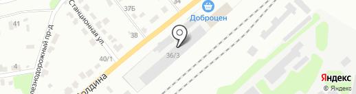 Автомойка №1 на карте Щёкино