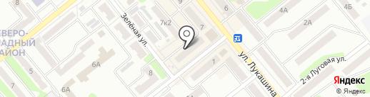 Галатея на карте Щёкино