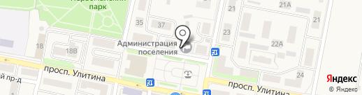 Администрация муниципального образования р.п. Первомайский на карте Первомайского