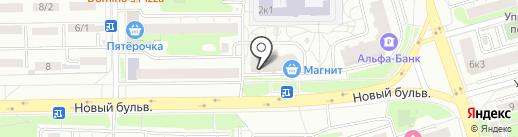 Парикмахерская на карте Долгопрудного