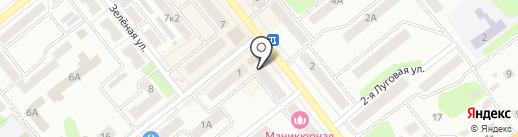 Дубки на карте Щёкино