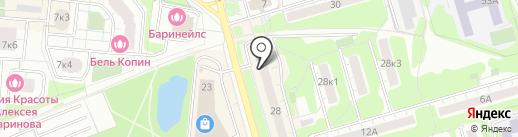 Комплексно-молодежный центр на карте Долгопрудного
