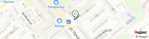 Фиолет на карте Щёкино