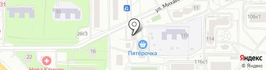 Астра на карте Москвы