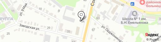 Транспортная компания на карте Щёкино