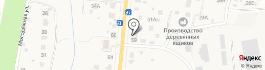 Почтовое отделение №142390 на карте Молодей