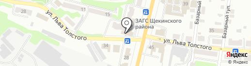 Ромарти на карте Щёкино