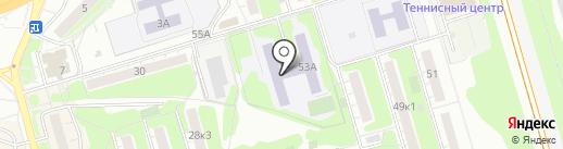 Средняя общеобразовательная школа №9 на карте Долгопрудного