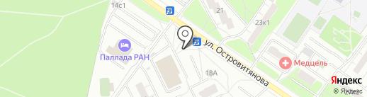 Киоск мороженого на карте Москвы