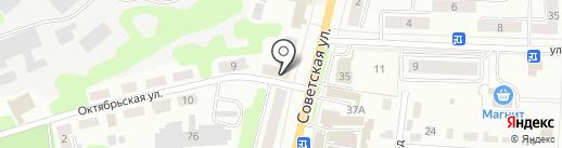 Хозя на карте Щёкино