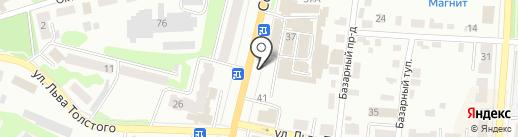 Катод на карте Щёкино