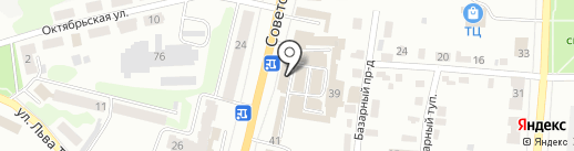 Лайт на карте Щёкино