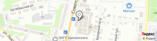 Максипром на карте Щёкино