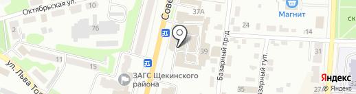 Магазин отделочных и строительных материалов на карте Щёкино