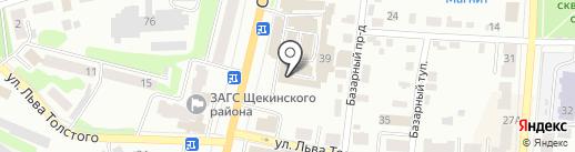 Магазин обоев на карте Щёкино