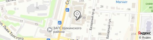 Магазин напольных покрытий на карте Щёкино