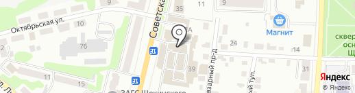 За стеклом на карте Щёкино