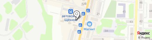 Азалия на карте Щёкино