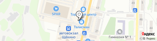 Вырастайка на карте Щёкино