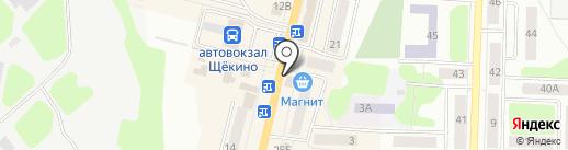 Поляна на карте Щёкино