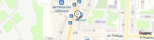 Магазин посуды на карте Щёкино