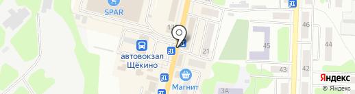 Булочная-кондитерская на карте Щёкино