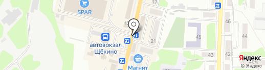 Киоск по продаже хлебобулочных изделий на карте Щёкино