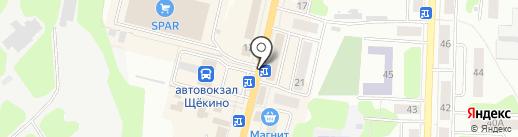Росденьги на карте Щёкино