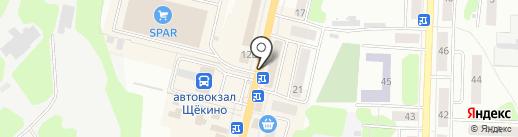 Магазин косметики и бытовой химии на карте Щёкино