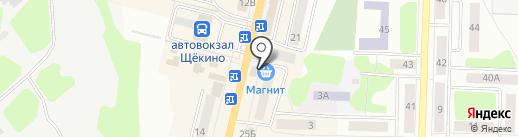 Флешка на карте Щёкино