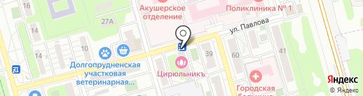 Лобня-Фарм на карте Долгопрудного